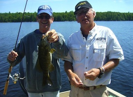 Smallmouth Bass Fishing with Registered Guides in Maine